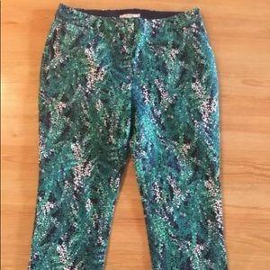Boden green patterned women's pants sz US 12R